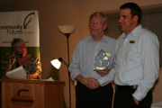 The 2012 Committment to Excellence in Learning Award was given to Dylan Zorn and Sandy Elzinga. Photo Erin Perkins.